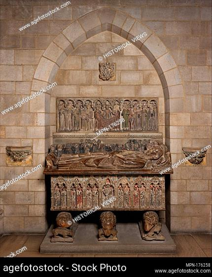 Tomb of Ermengol VII, Count of Urgell. Date: ca. 1300-1350; Geography: Made in Lerida, Catalonia, Spain; Culture: Catalan; Medium: Limestone