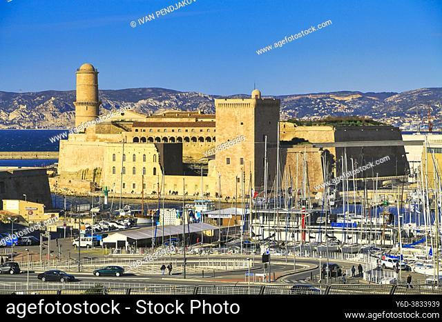 Fort Saint-Jean, Marseille, Provence-Alpes-Cote d'Azur, France