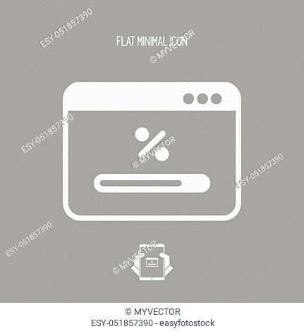 Bar progress computer icon