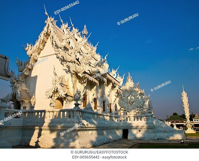 Buddhist Monastery, Wat Rong Khun at Chiang Rai, Thailand