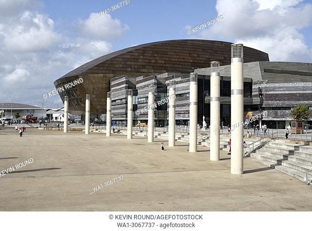 Millennium Centre in Cardiff Bay Wales UK