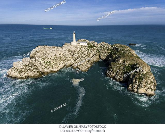 Mouro island, Santander, Cantabria, Spain