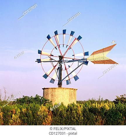 Windmill. Majorca. Balearic Islands. Spain