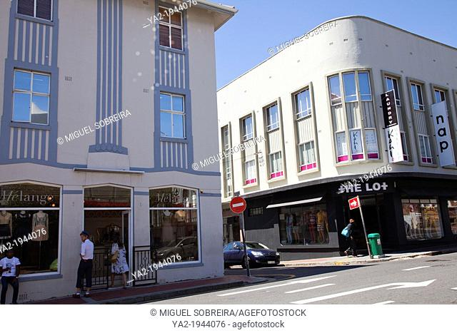 Shops along Kloof Street in cape Town - South Africa