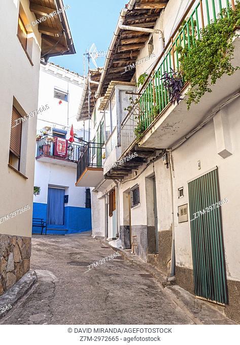 Arquitectura popoular. Santa Cruz del Valle. Barranco de las cinco villas. Valle del Tiétar. Provincia de Ávila, Castile-Leon, Spain