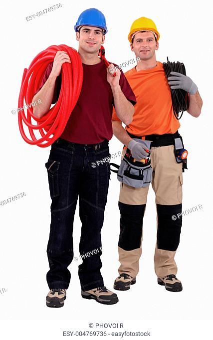 craftsmen posing together