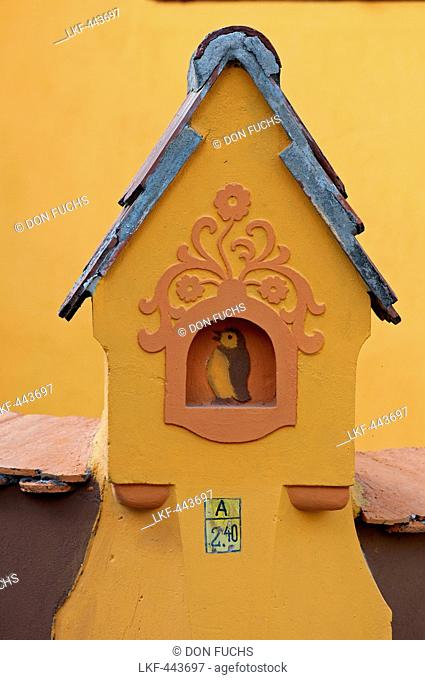 detail of a house in the historic centre, Sighisoara, Transylvania, Romania