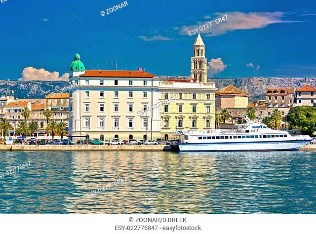 City of Split waterfront architecture view