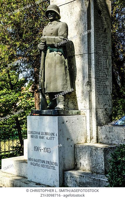 Hungarian World War One Memorial in the village of Polgardi, Hungary