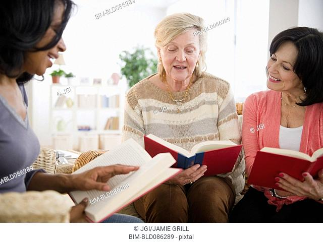 Women enjoying book club meeting