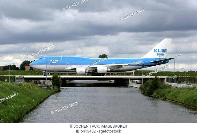 Amsterdam International Airport Schiphol. Boeing 747, Jumbo Jet, , Amsterdam, Holland, NLD, Netherlands