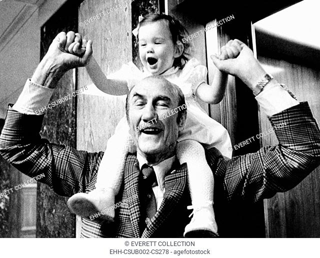 Senator Strom Thurmond plays with his baby daughter Nancy Moore Thurmond. Republican of South Carolina was married to a women 44 years his junior