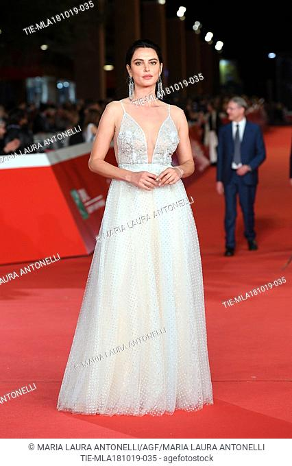 Catrinel Marlon during the red carpet of film Motherless Brooklyn at the 14th Rome Film Festival, Rome, ITALY-17-10-2019