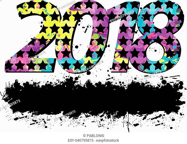 2018 New Year. Design element