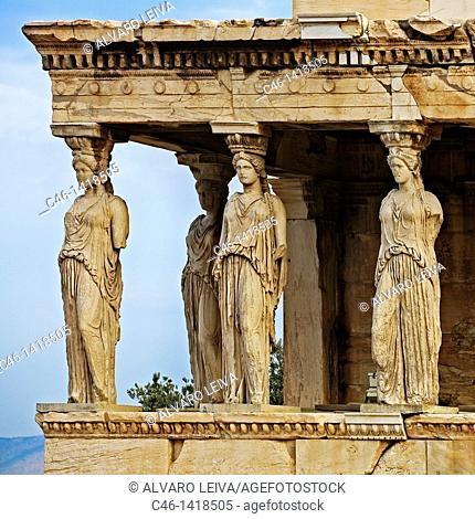 Caryatids, Porch of Maidens, Acropolis, Greece