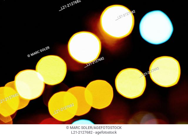 Defocused light color