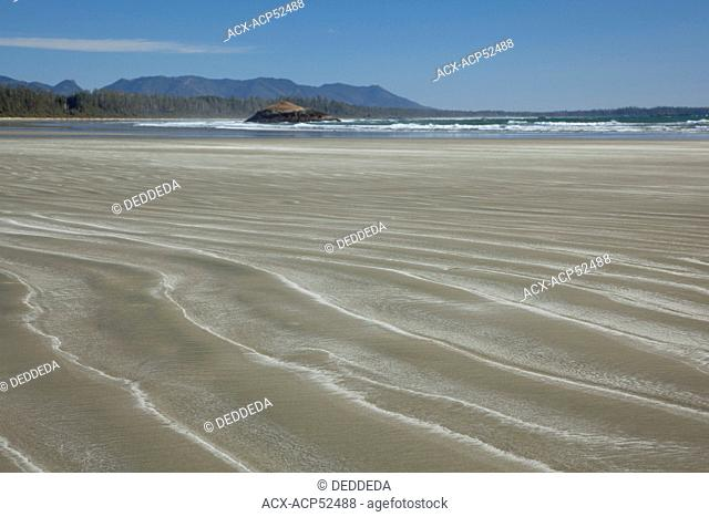 Long Beach, a surfer's paradise, in Pacific Rim National Park near Tofino, British Columbia, Canada on Vancouver Island in Clayoquot Sound UNESCO Biosphere...