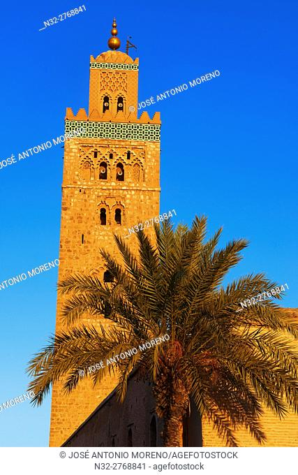 Minaret, Koutoubia Mosque, Marrakech, UNESCO World Heritage Site, Morocco, Maghreb, North Africa