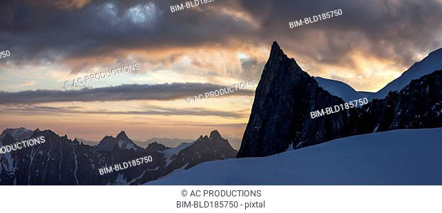 Mountains in remote landscape