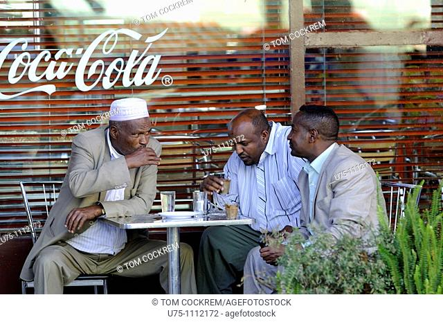 coffee shop, Haile Selasse Street, addis ababa ethiopia
