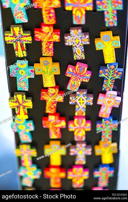 Mexican boho chic craft, La Revolución del Sueño shop, Sayulita Magic Town, Riviera Nayarit, Pacific Ocean, Nayarit State, Mexico, Central America, America