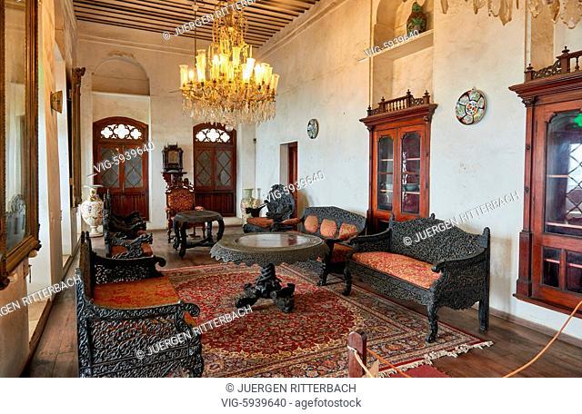 interior shot museum Beit-el-Sahel, palalce of sultan in Stone Town, UNESCO World Heritage Site, Zanzibar, Tanzania, Africa - Stone Town, Zanzibar, Tanzania