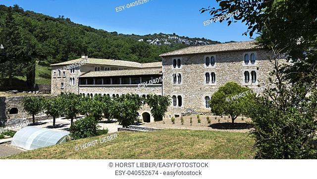Monastery garden Abbay Notre Dame de Sénanque Gordes Provence France, Europe
