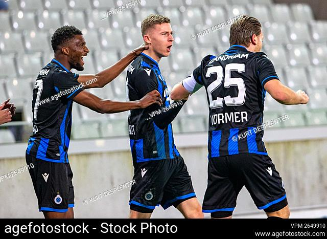 Club's Ignace Van Der Brempt celebrates after scoring during a soccer match between Club Brugge and OHL Oud-Heverlee - Leuven, Monday 22 February 2021 in Brugge