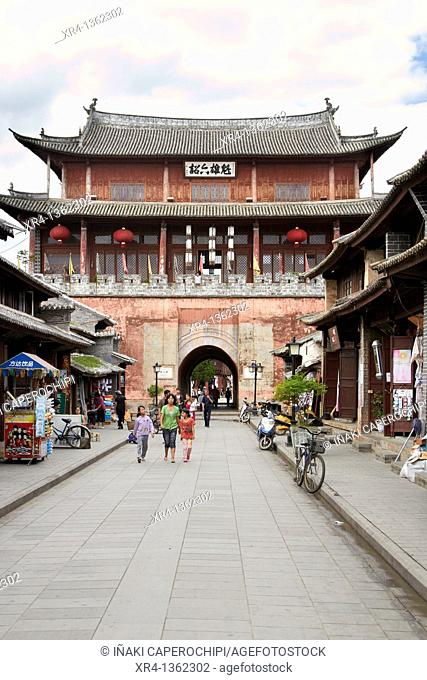 Traditional building in Central Square, Weishan, Dali Bai Autonomous Prefecture, Yunnan, China