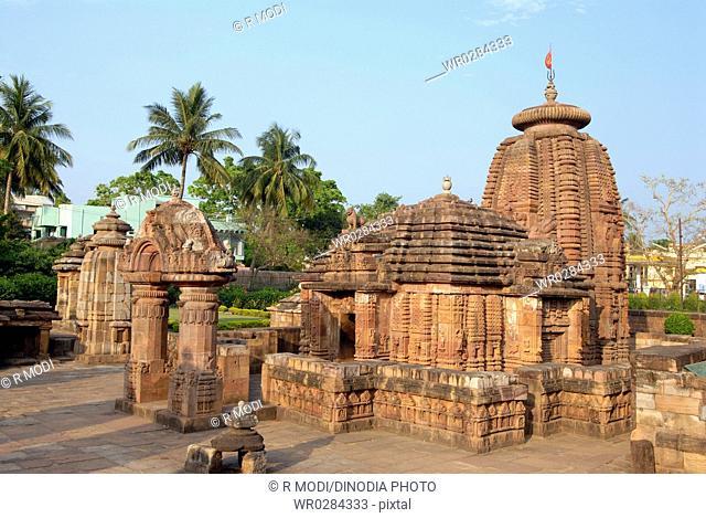 Mukteshwara temple dedicated to lord Shiva rowing statue , Bhubaneswar , Orissa , India