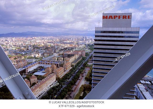 Barcelona: as seen from Hotel Arts