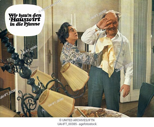 Wir hau'n den Hauswirt in die Pfanne, Deutschland 1971, Regie: Franz Josef Gottlieb, Darsteller: Fritz Tillmann, Hannelore Schroth