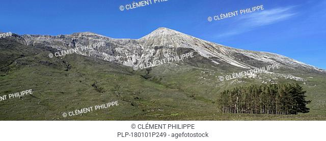 Beinn Eighe, mountain massif exposing Cambrian basal quartzite in the Torridon Hills of the Scottish Highlands, Ross and Cromarty, Scotland, UK