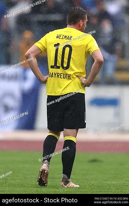 07 August 2021, Bavaria, Bayreuth: Football: DFB Cup, SpVgg Bayreuth - Arminia Bielefeld, 1st round at Hans-Walter-Wild-Stadion