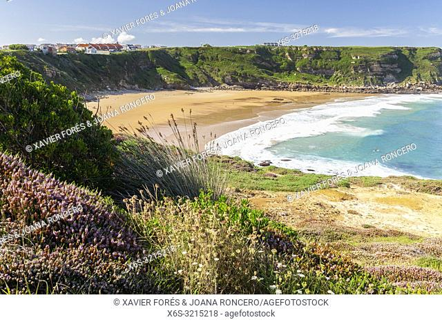 De los Locos Beach in Suances, Cantabria, Spain