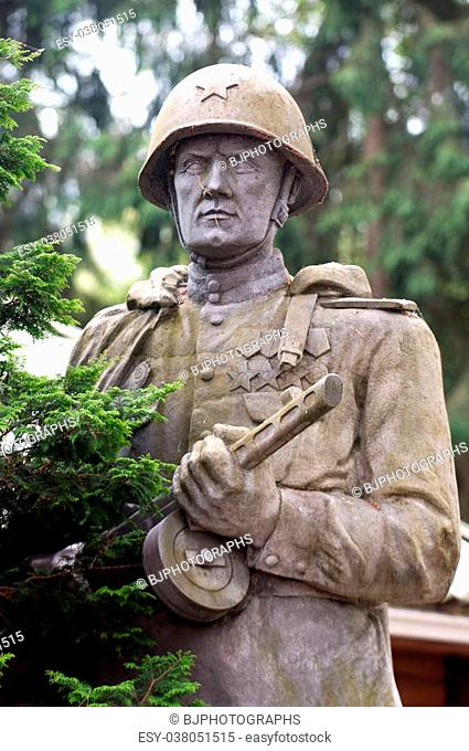 Statue of soviet soldier from ww2
