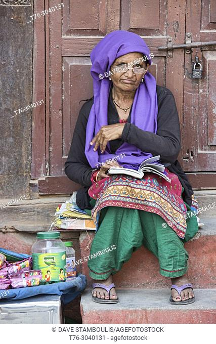 Vendor at Durbar Sqiare. Kathmandu, Nepal