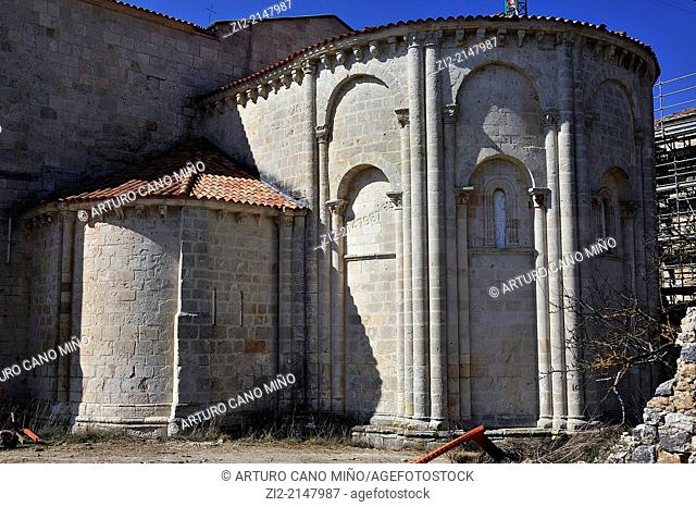 Romanesque monastery XIIth century. San Juan de Ortega, Burgos, Spain