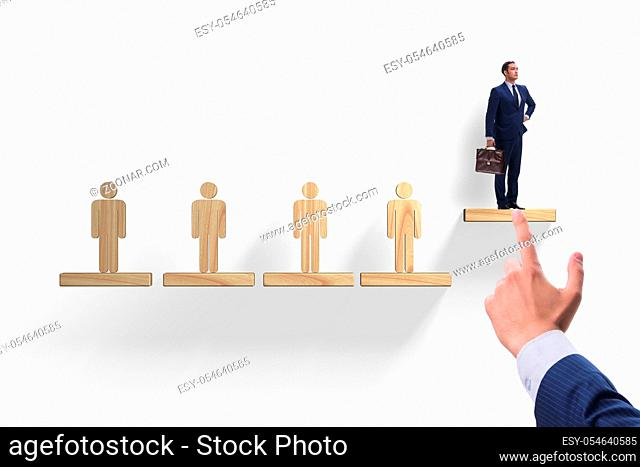 The career ladder concept with businessman