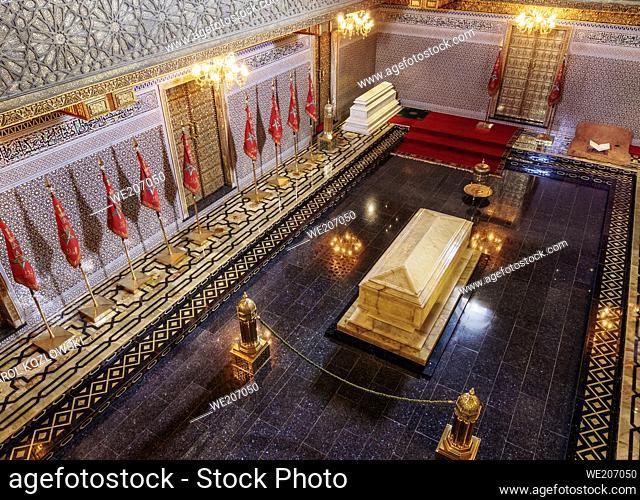 Mausoleum of Mohammed V, interior, Rabat, Rabat-Sale-Kenitra Region, Morocco