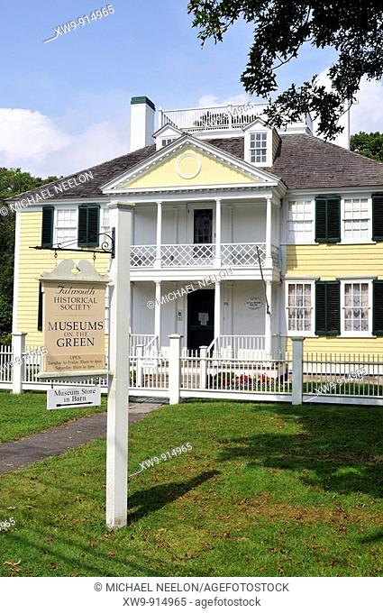 Museums on the Green in historic downtown Falmouth, Cape Cod