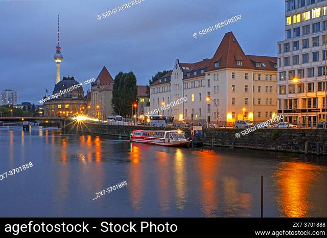 Museum Island and TV Tower in Berlin, Germany
