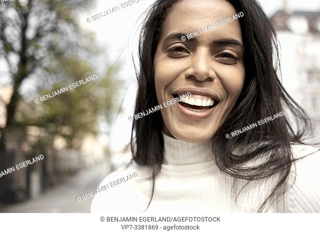 Close up portrait of a Brazilian woman, Munich, Germany