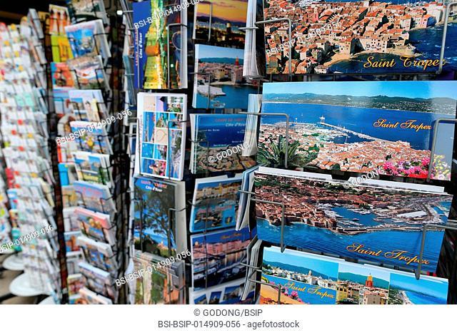 Saint Tropez, postcards