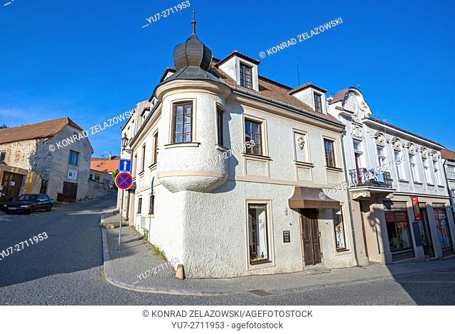Houses in Mikulov town, Moravia region, Czech Republic