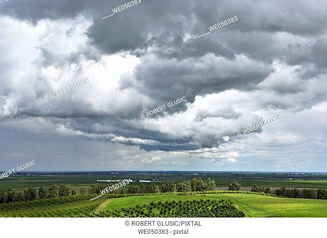 Storm clouds near Bakersfield, California. USA