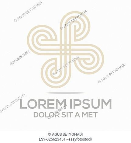 abstract infinity element symbol business vector circle line lettermark logotype ring infinite