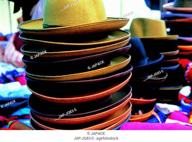 Hat stall, Peru