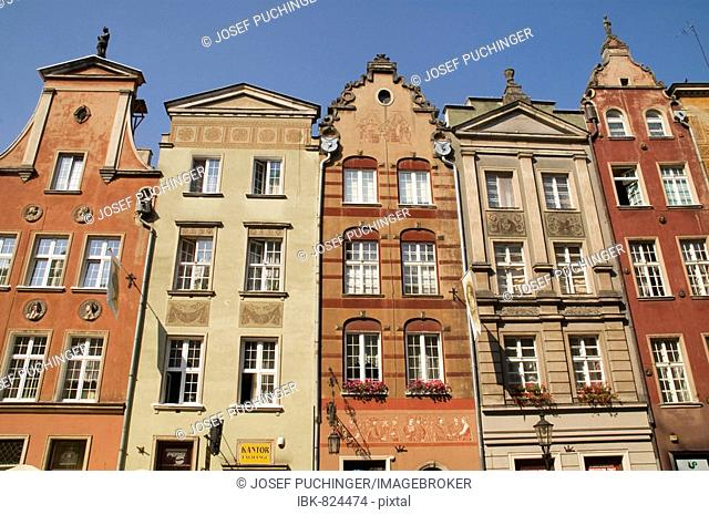 Colourful historic townhouses, Gdansk, Poland, Europe