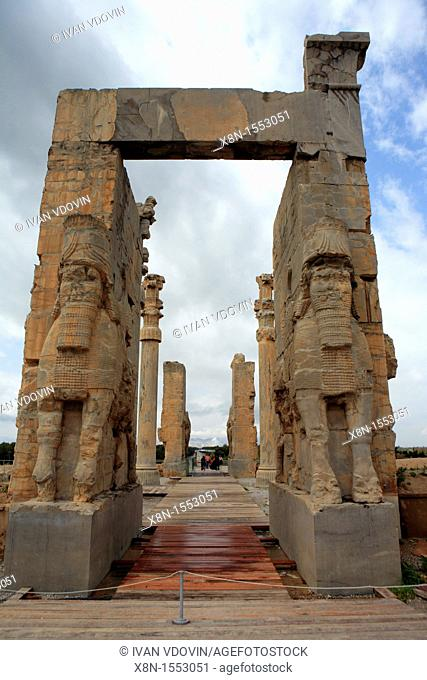 Palace of Akhemenid kings 510-450 BC, UNESCO World Heritage Site, Persepolis, province Fars, Iran